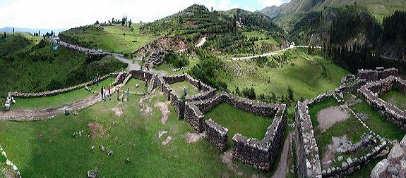 Puca pucara complex made of red granite