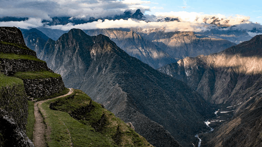 a view during inca trail trekking