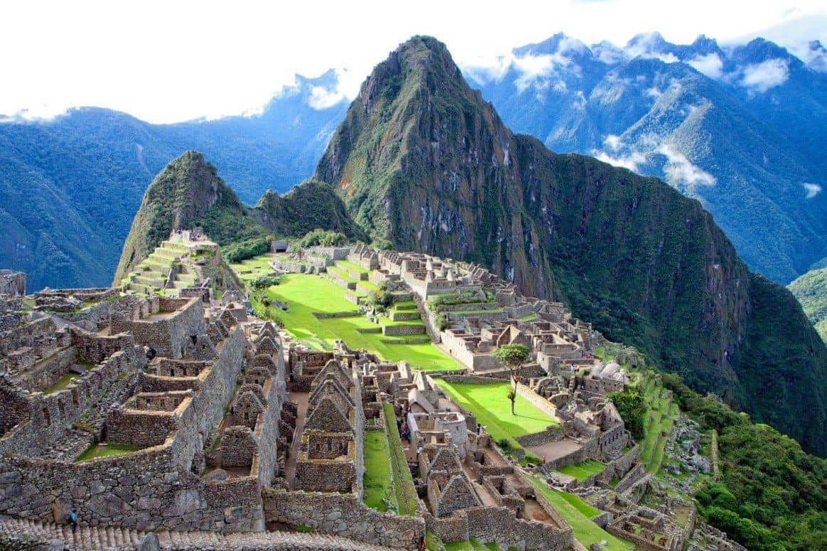 early morning breathtaking view of Machu Picchu