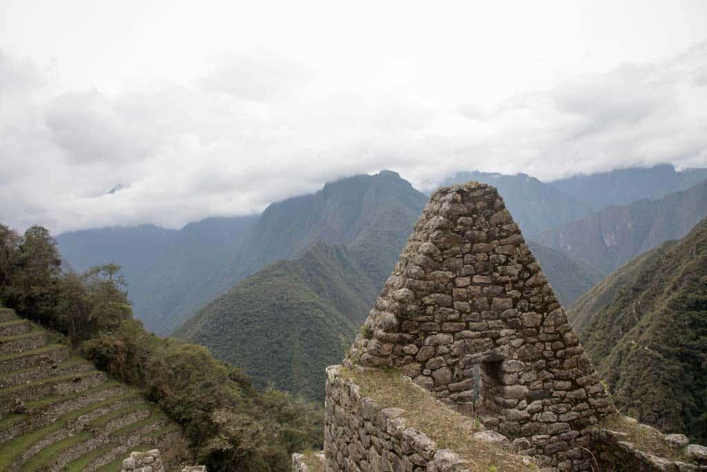 The Winay Wayna ruins on the one-day Inca Trail to Machu Picchu.
