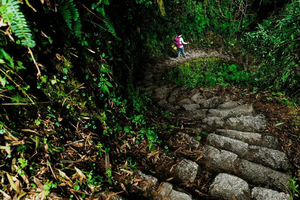 trekking towards machu picchu