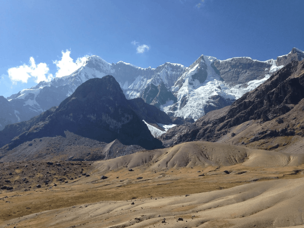 mount ausangate view from arapa pass